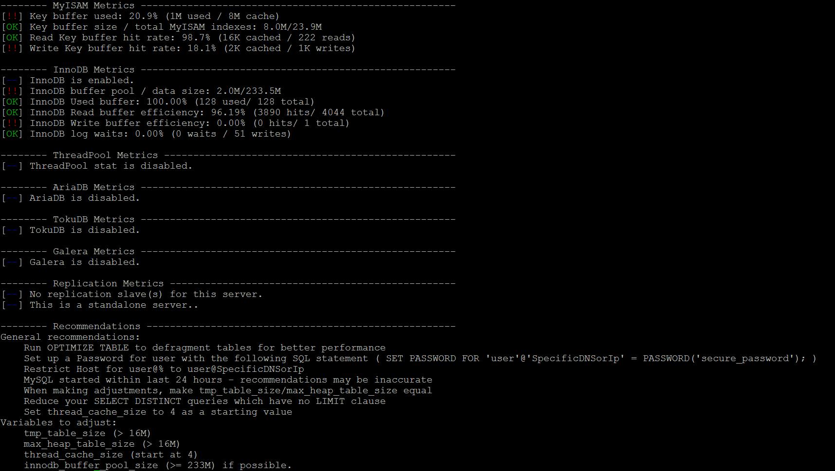 Tech Tip - MySQL/MariaDB Optimisation & Tuning - eApps Blog eApps Blog